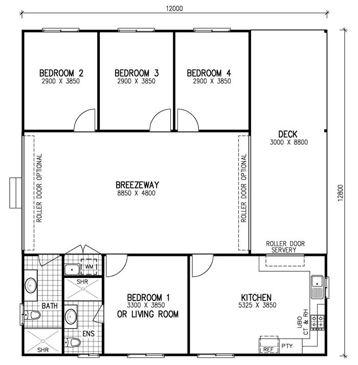 Breezeway House Floor Plans Home Photo Style